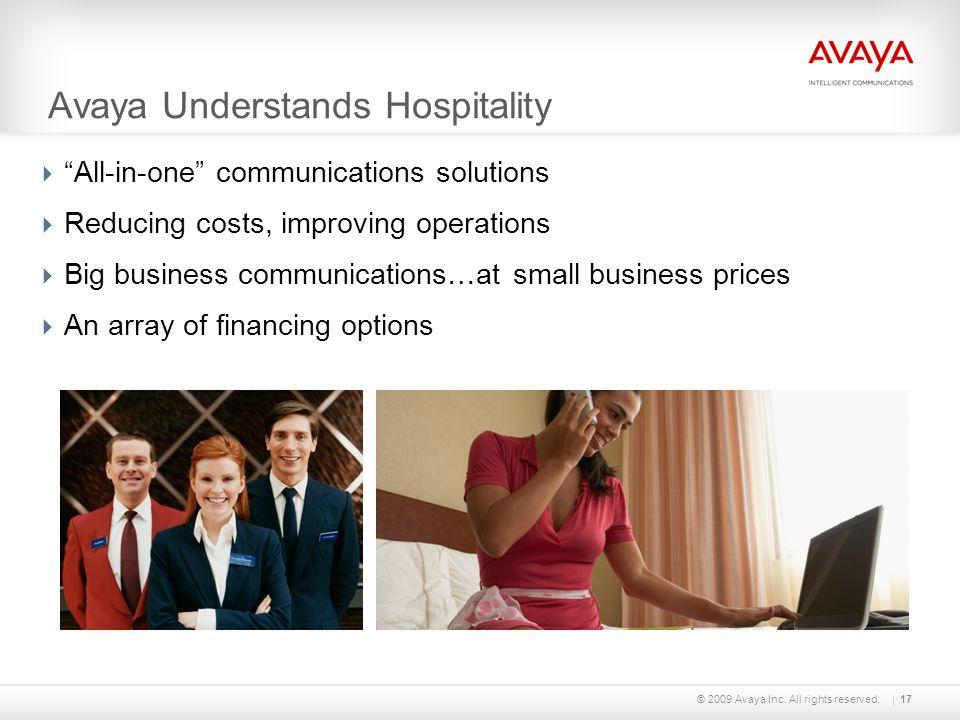Avaya Understands Hospitality