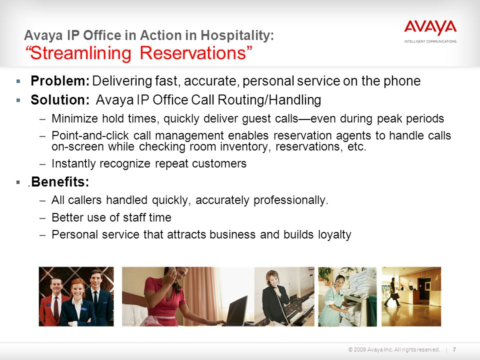 Avaya IP Office in Action in Hospitality: Streamlining Reservations
