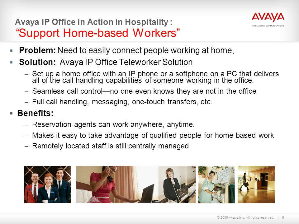 Problem: Need to easily connect people working at home,