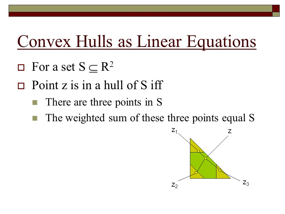 Convex Hulls as Linear Equations