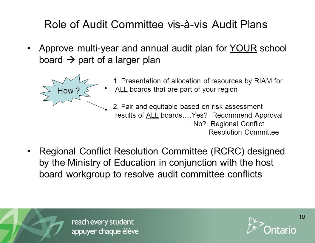 Role of Audit Committee vis-à-vis Audit Plans
