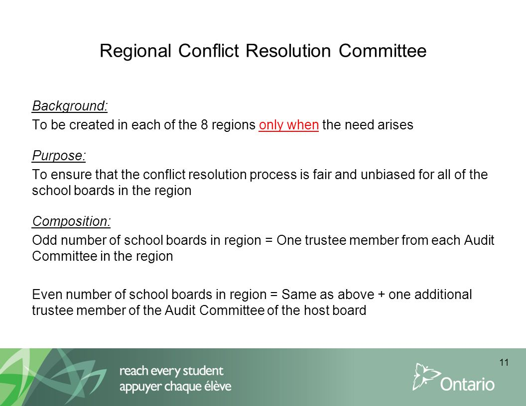 Regional Conflict Resolution Committee