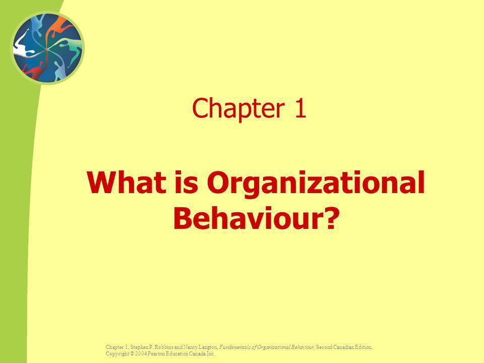 What is Organizational Behaviour