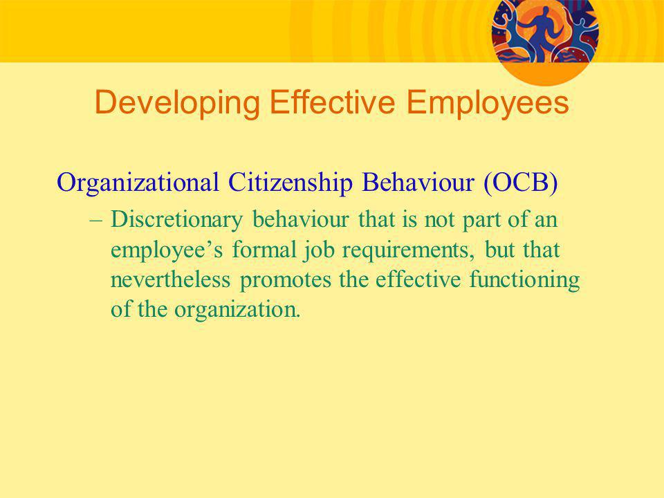 Developing Effective Employees