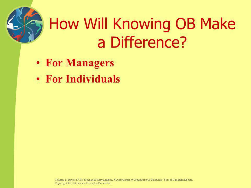 How Will Knowing OB Make a Difference