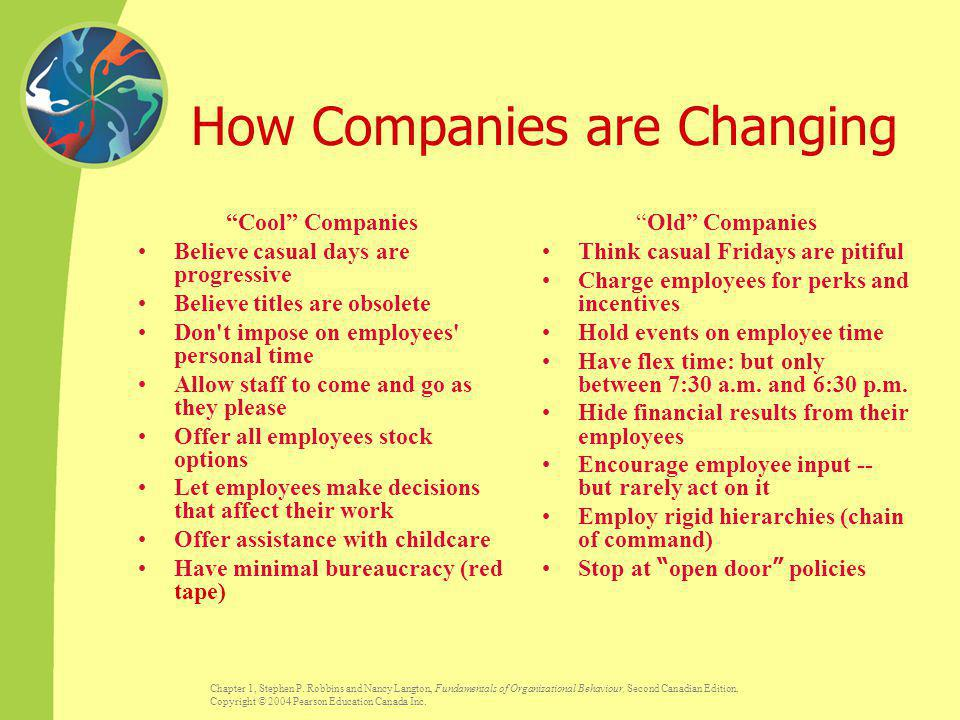 How Companies are Changing