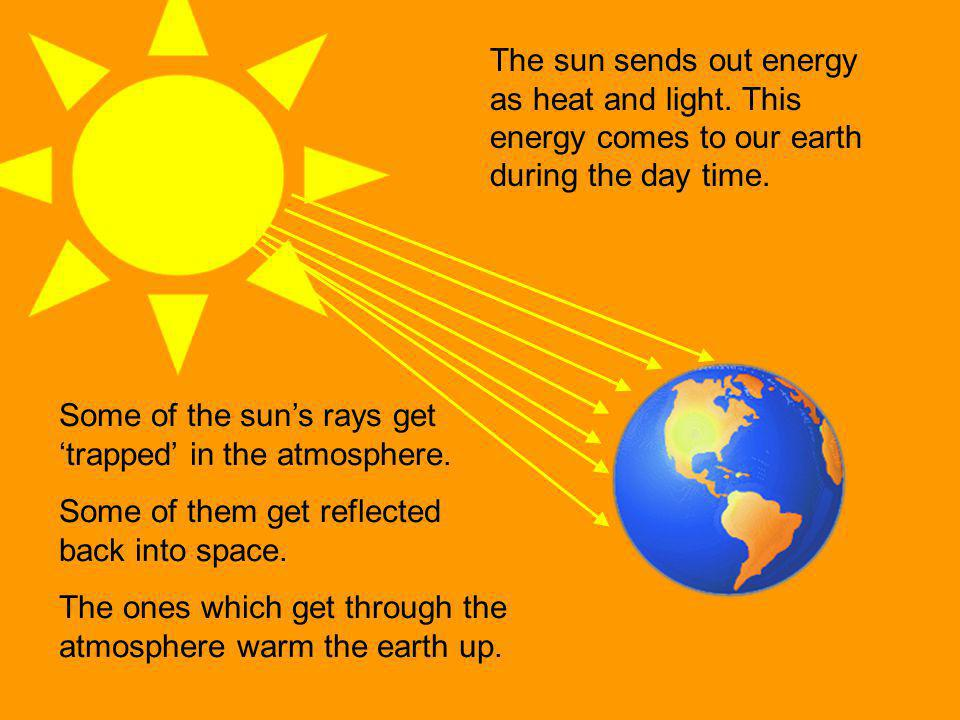 The sun sends out energy as heat and light