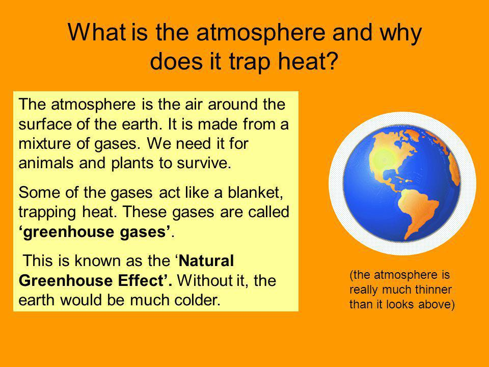 What is the atmosphere and why does it trap heat