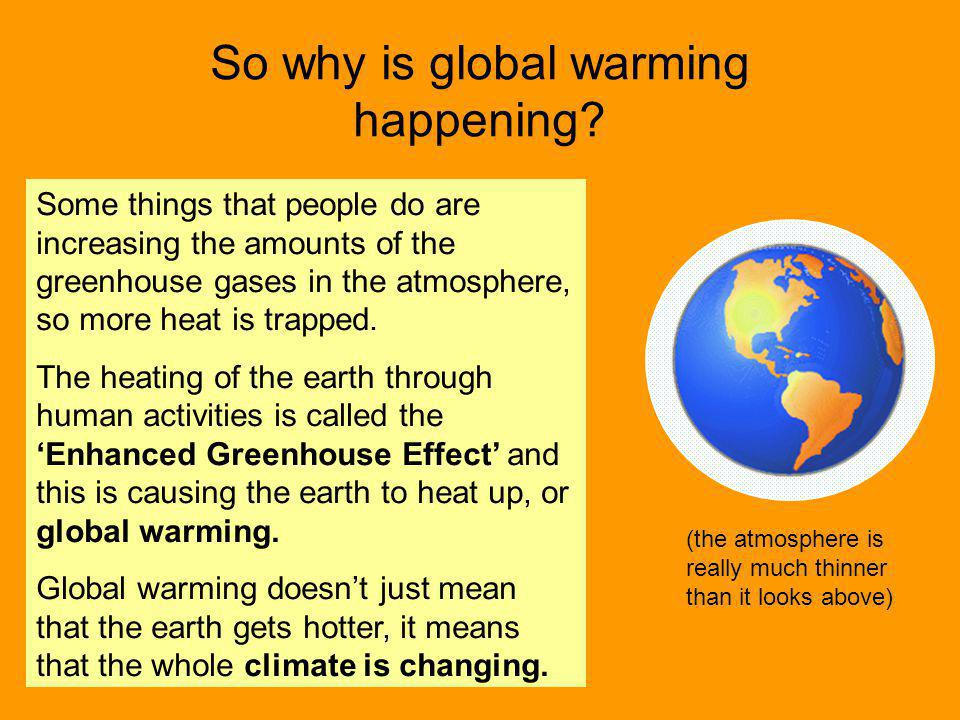 So why is global warming happening