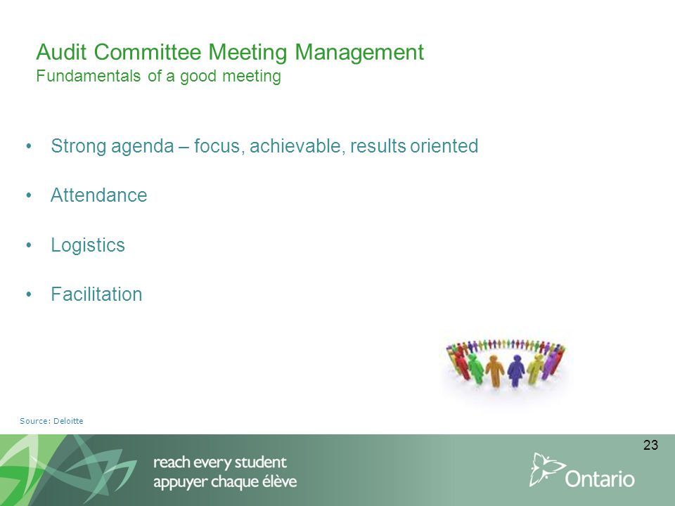 Audit Committee Meeting Management Fundamentals of a good meeting