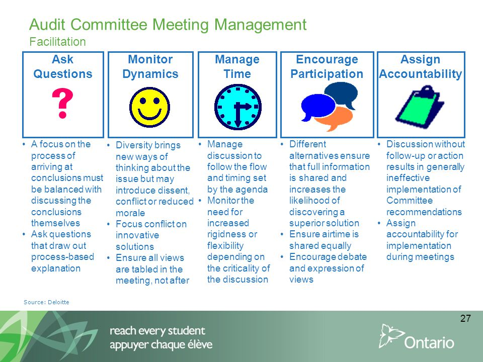 Audit Committee Meeting Management Facilitation