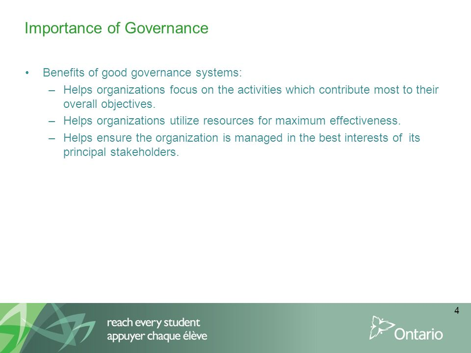 Importance of Governance