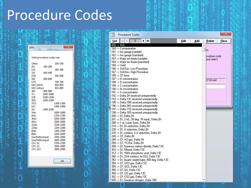 Procedure Codes