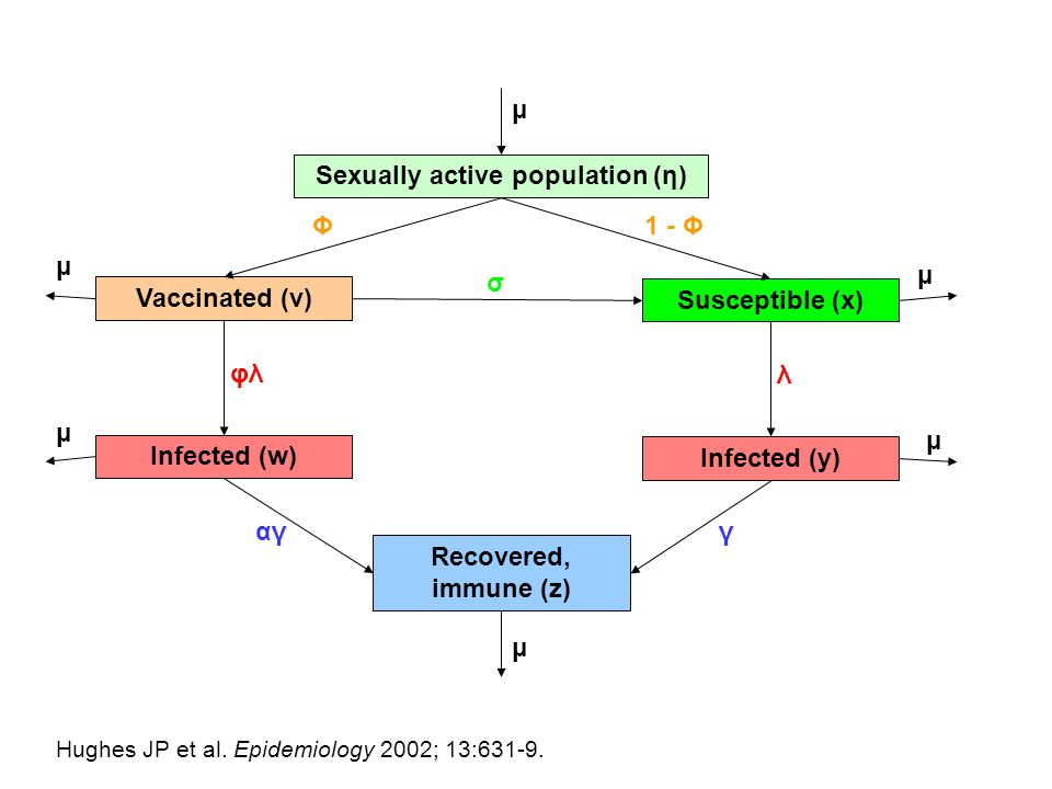Sexually active population (η)