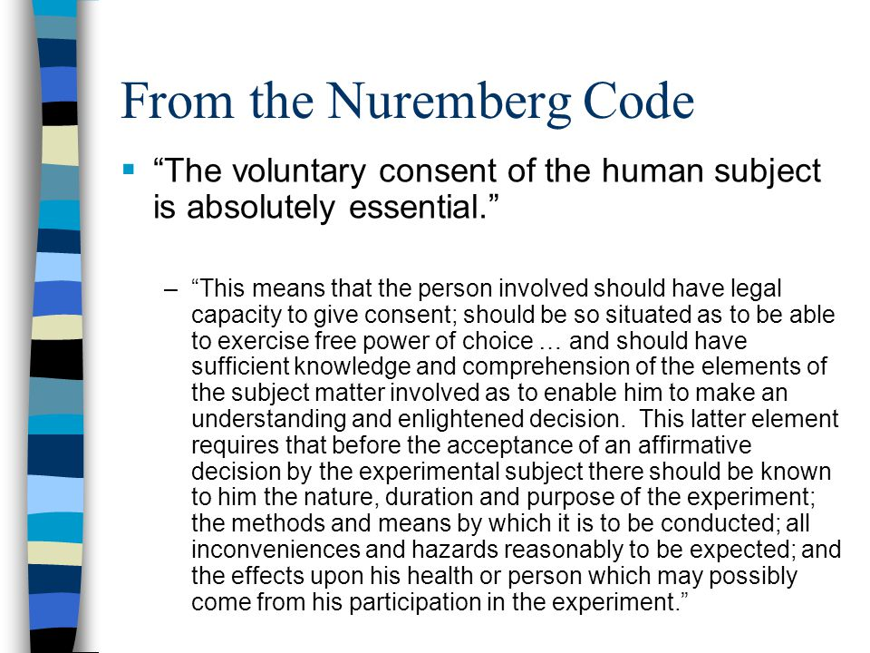 From the Nuremberg Code
