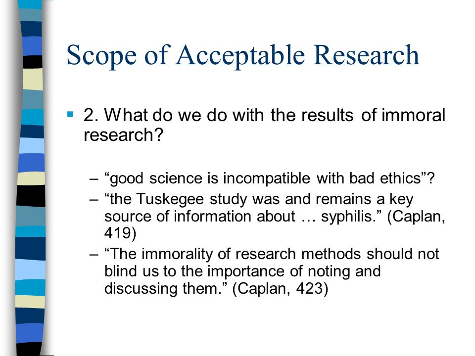 Scope of Acceptable Research