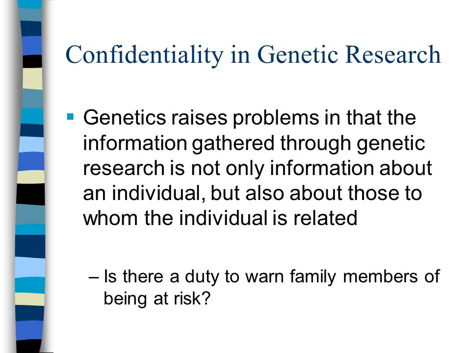Confidentiality in Genetic Research