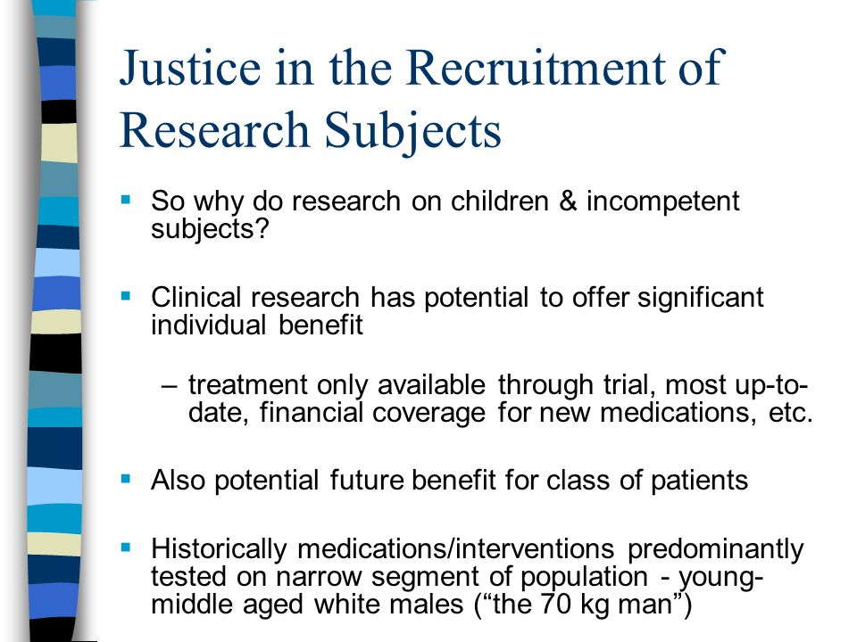 Justice in the Recruitment of Research Subjects