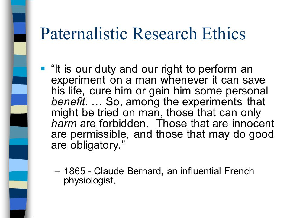 Paternalistic Research Ethics