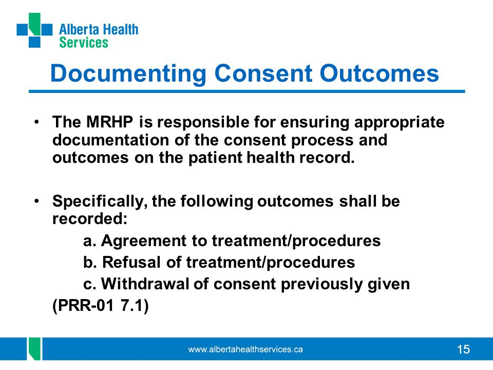 Documenting Consent Outcomes