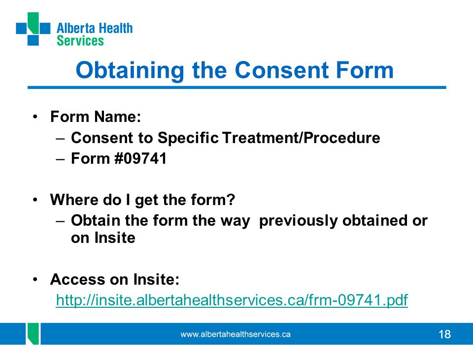 Obtaining the Consent Form