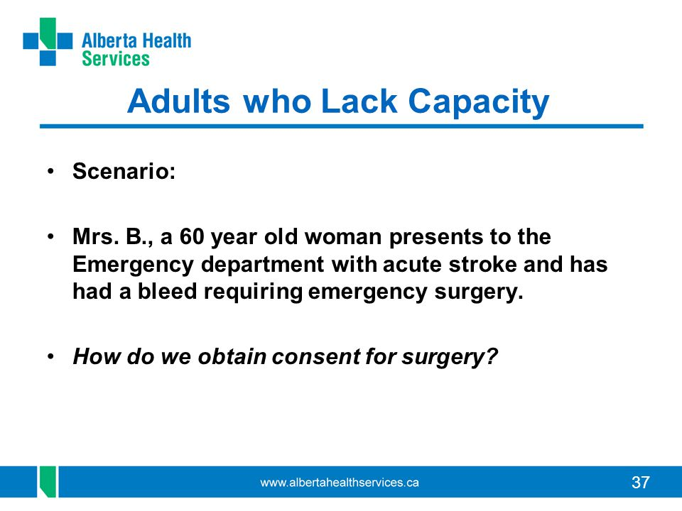 Adults who Lack Capacity