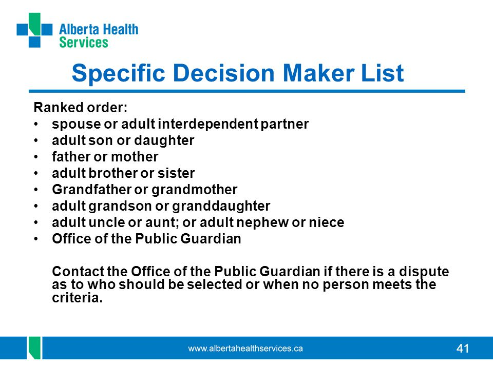 Specific Decision Maker List