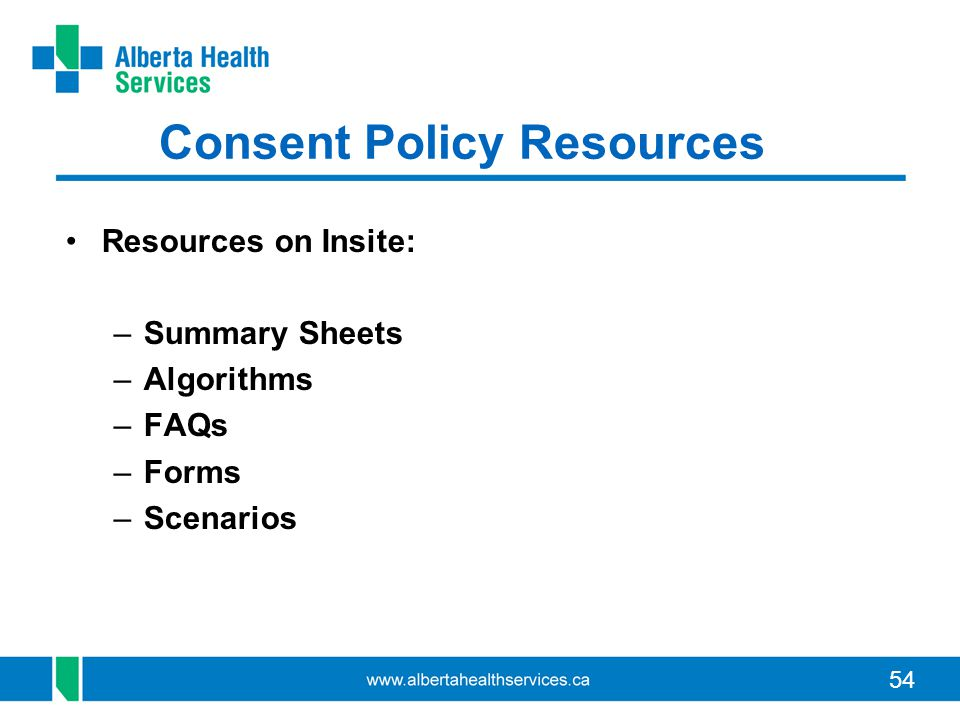 Consent Policy Resources