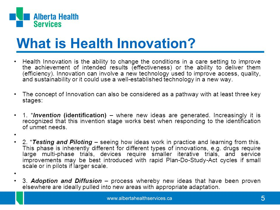 What is Health Innovation