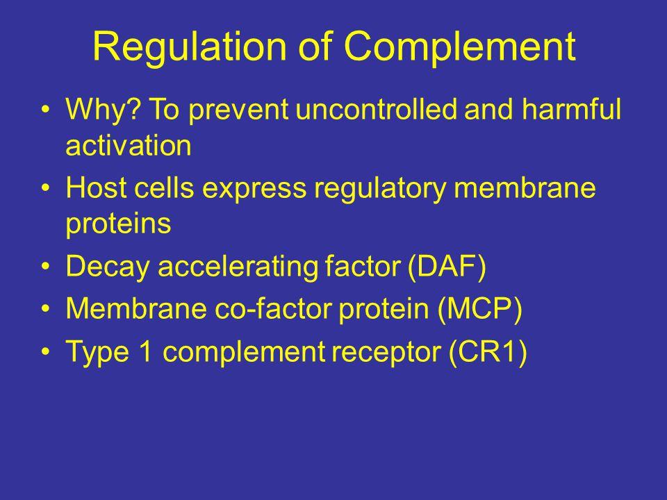 Regulation of Complement
