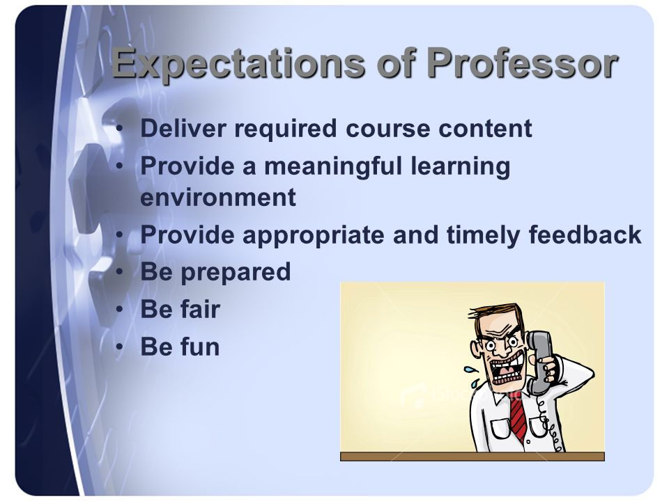 Expectations of Professor