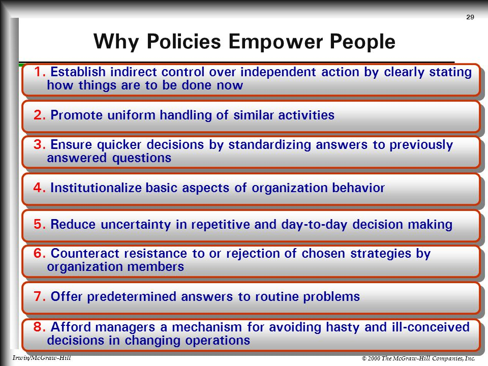Why Policies Empower People