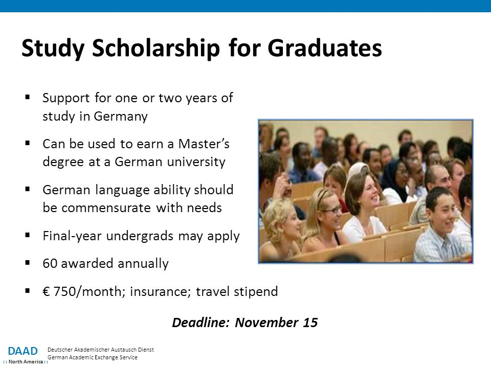Study Scholarship for Graduates