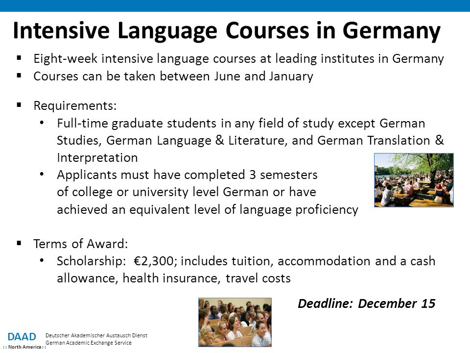 Intensive Language Courses in Germany