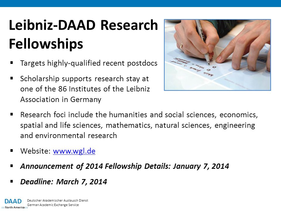 Leibniz-DAAD Research Fellowships