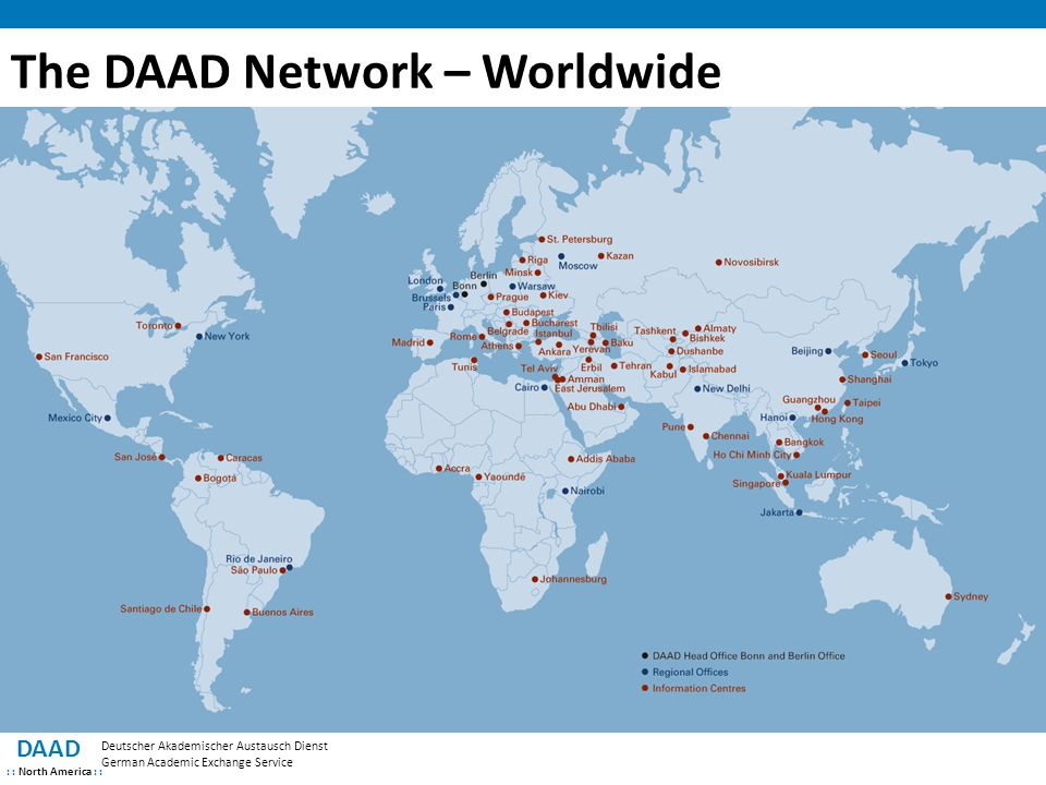 The DAAD Network – Worldwide