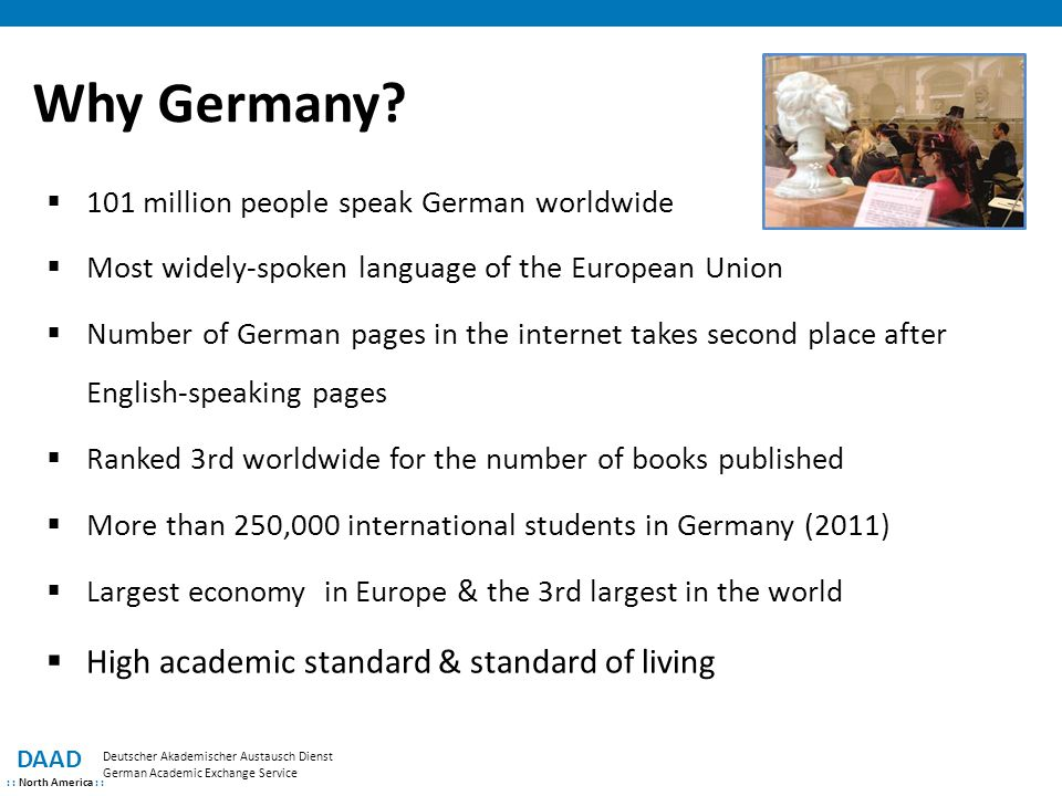 Why Germany High academic standard & standard of living