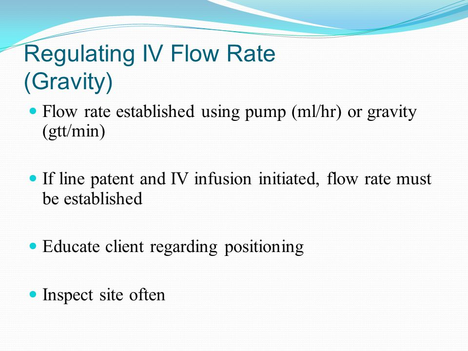 Regulating IV Flow Rate (Gravity)