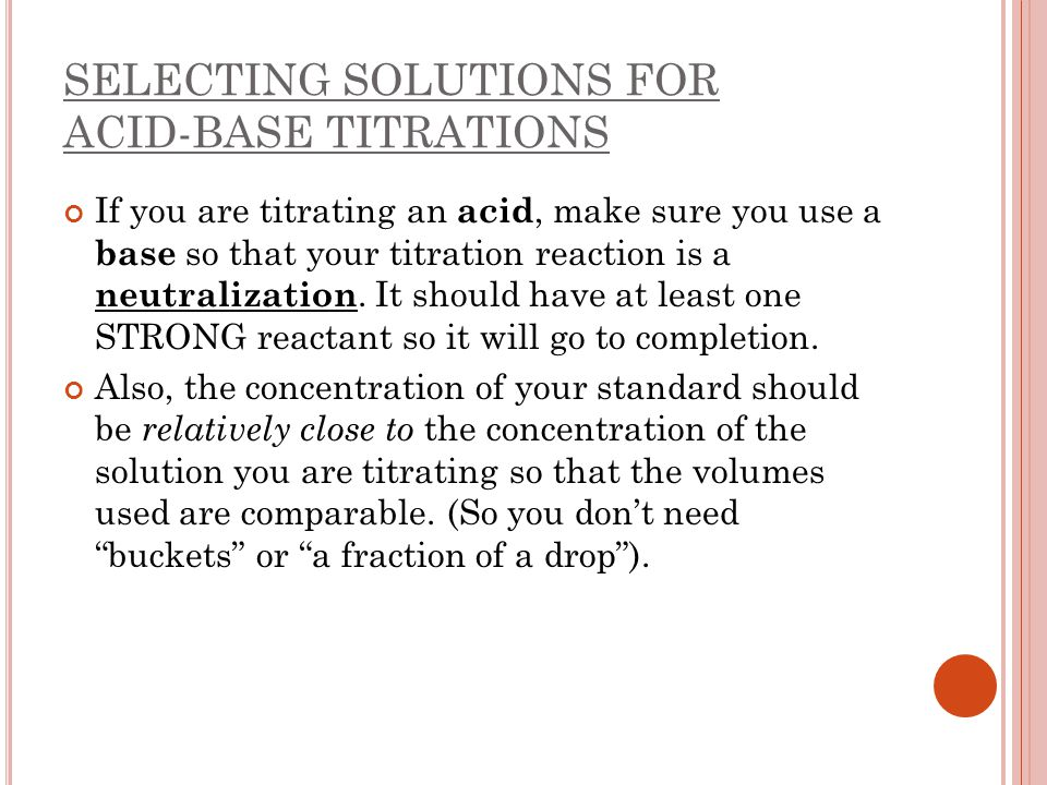 how to make a standard solution for titration