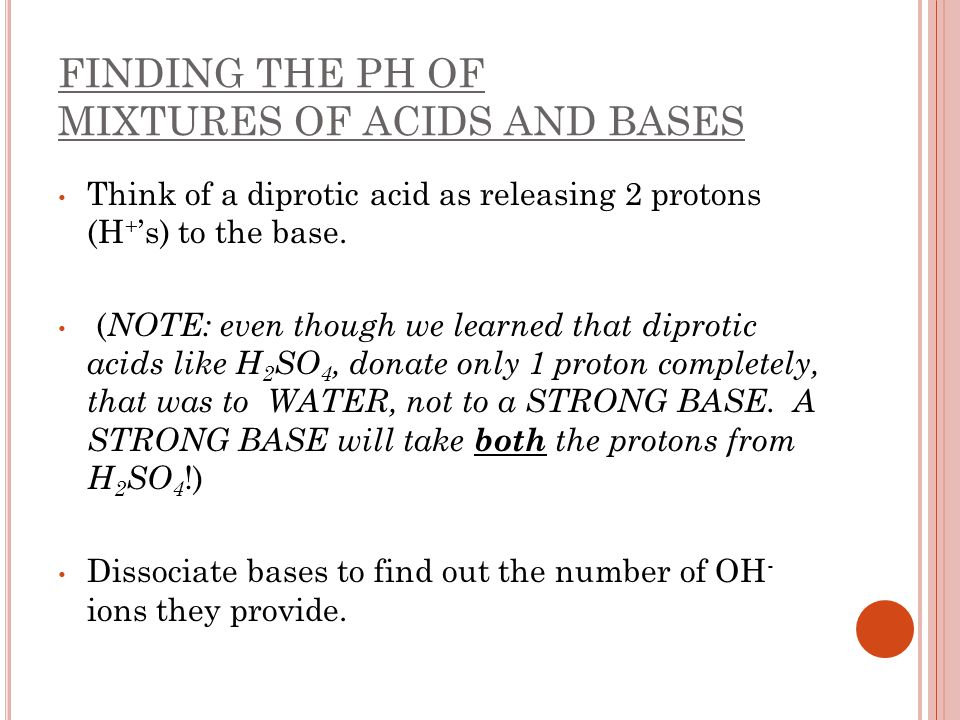 how to find the ph of a diprotic acid