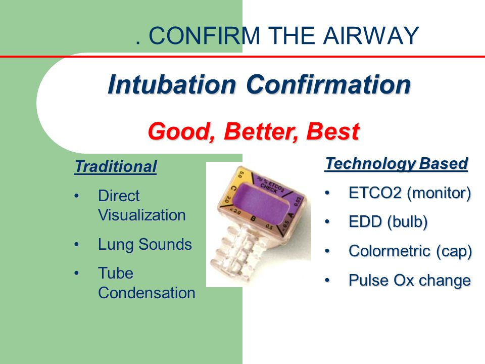 Intubation Confirmation