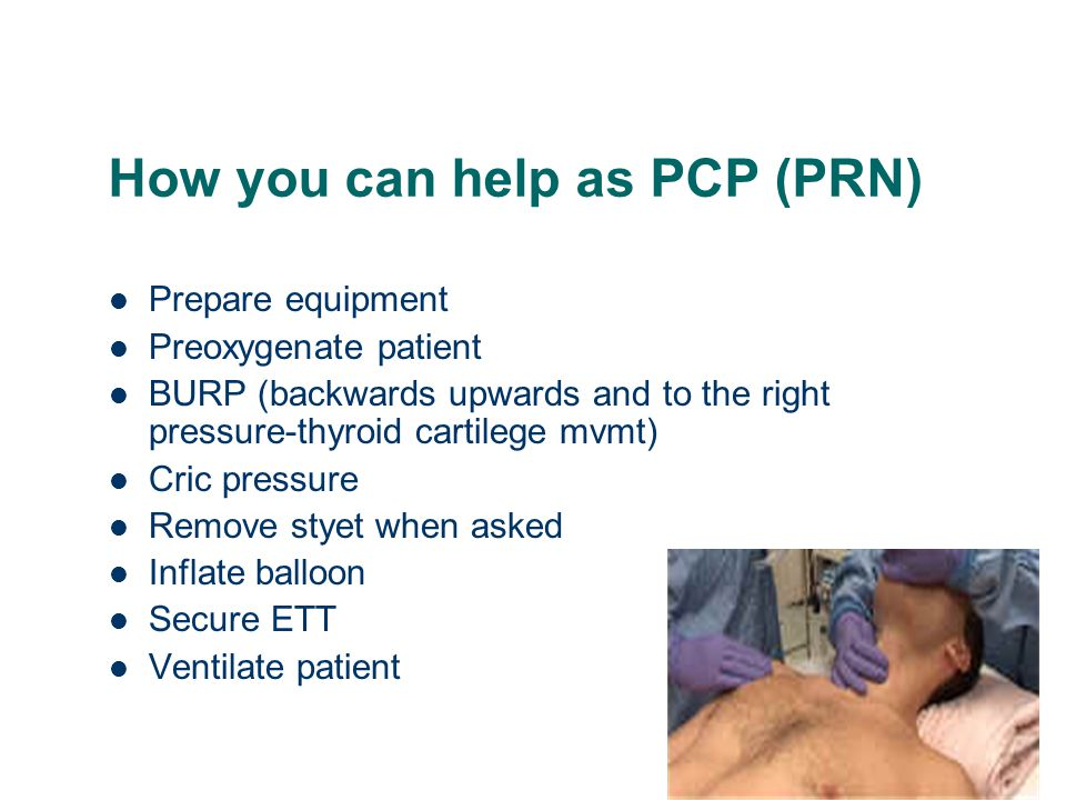 How you can help as PCP (PRN)