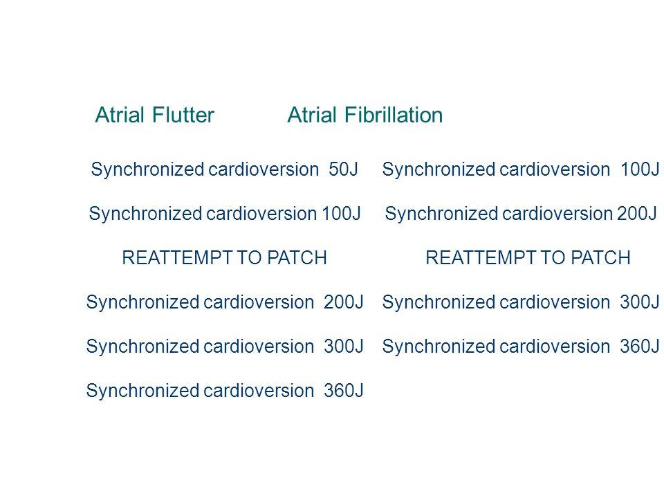 Atrial Flutter Atrial Fibrillation