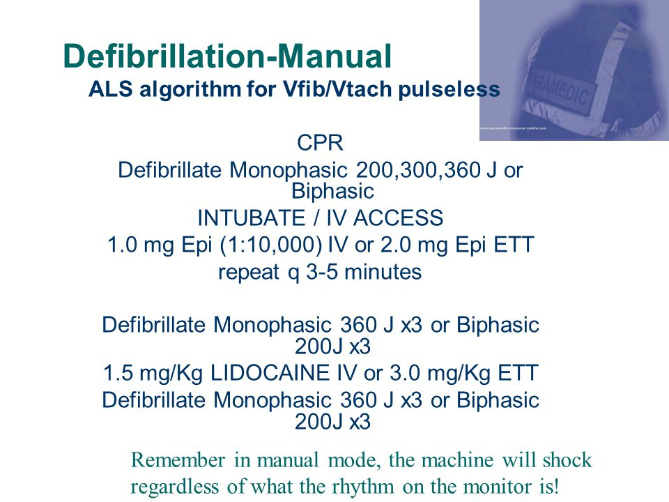 Defibrillation-Manual