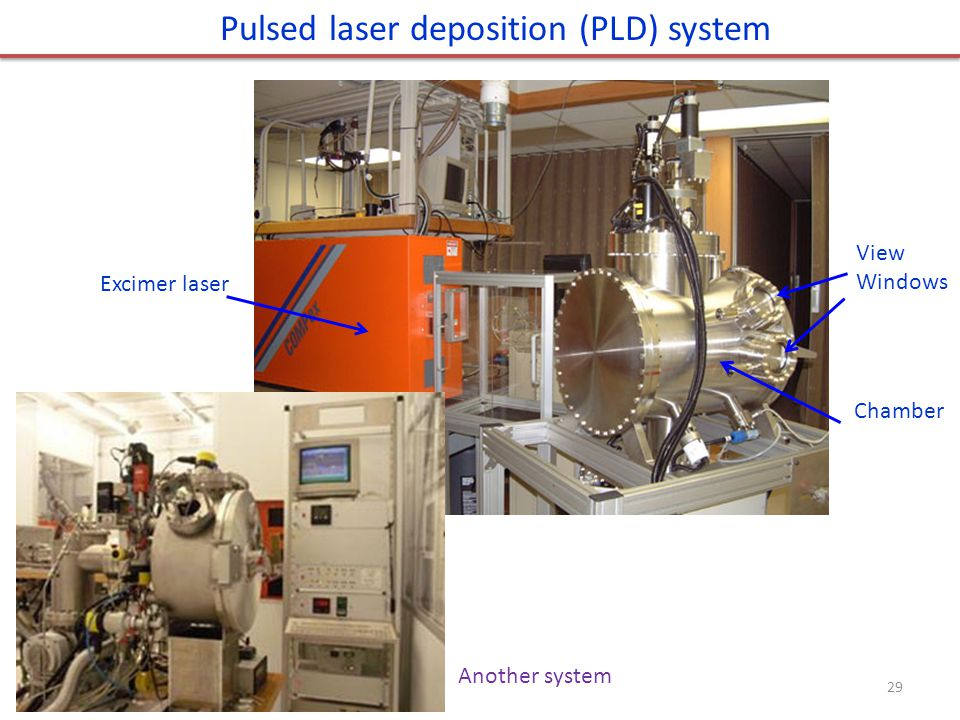 Pulsed laser deposition (PLD) system