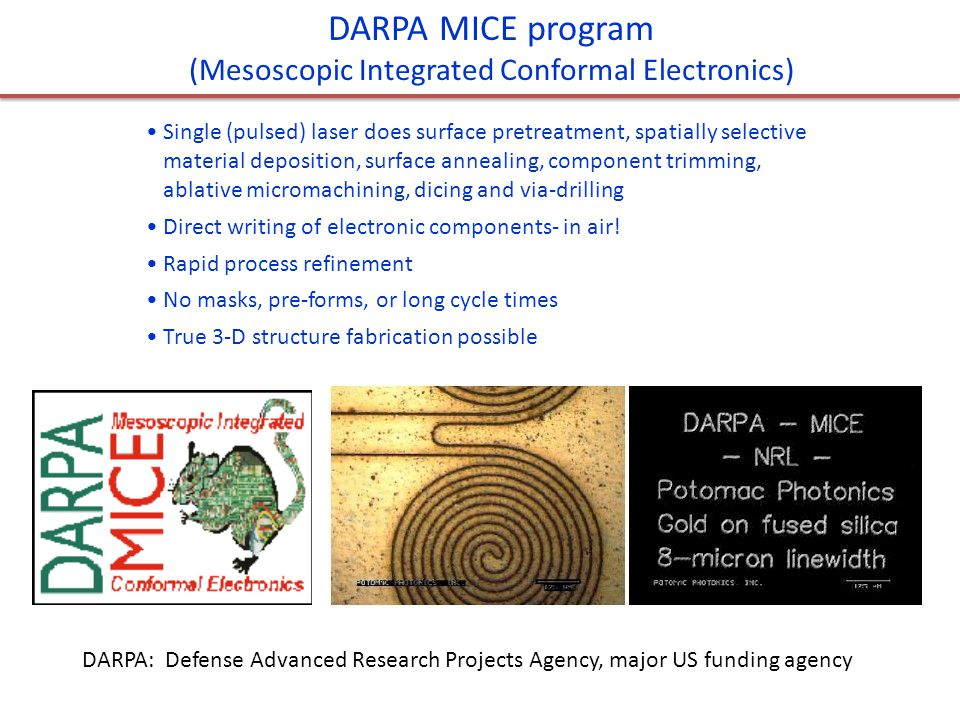 (Mesoscopic Integrated Conformal Electronics)