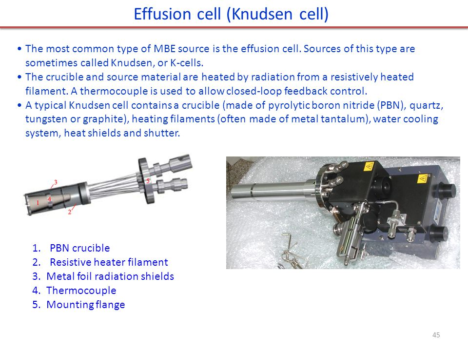 Effusion cell (Knudsen cell)