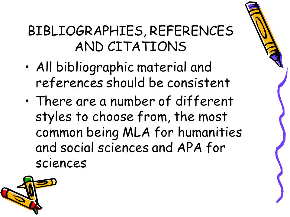 BIBLIOGRAPHIES, REFERENCES AND CITATIONS