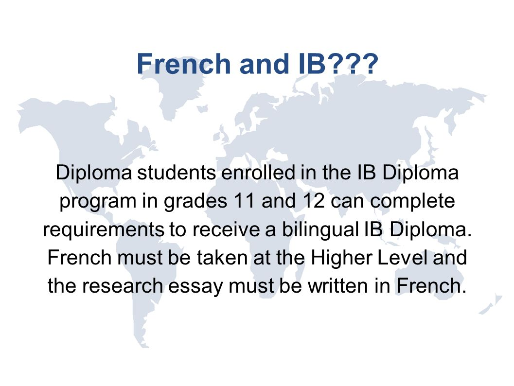 French and IB