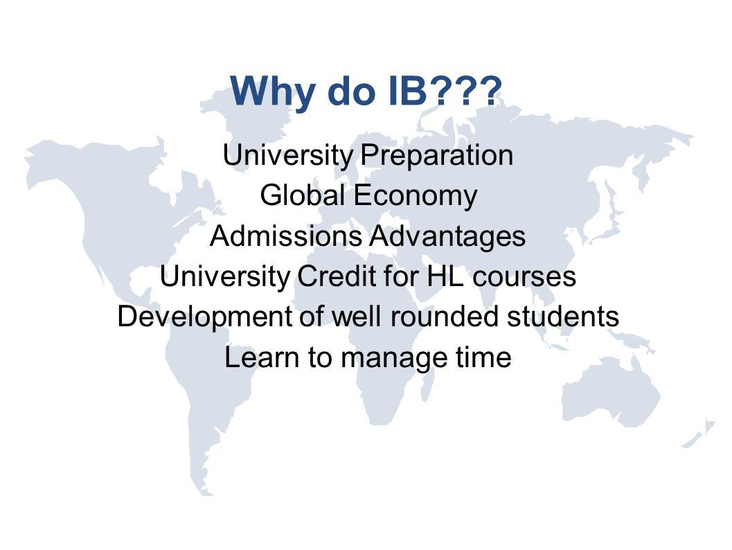 Why do IB University Preparation Global Economy